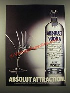 1986 Absolut Vodka Ad - Absolut Attraction