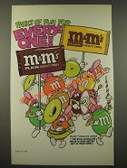 1986 M&M's Chocolate Candies Ad - Packs of Fun for Every-One - Marching Band
