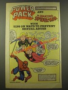 1986 Power Pack and the Amazing Spider-Man Prevent Sexual Abuse Ad