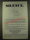1986 Dogs for the Deaf Ad - Silence