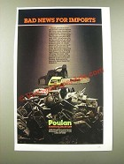 1986 Poulan 3000 Chain Saw Ad - Bad News for Imports