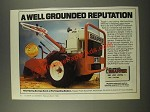 1986 Snapper RT8 Rear Tine Tiller Ad - A Well Grounded Reputation