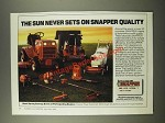 1986 Snapper Lawn & Garden Equipment Ad - The Sun Never Sets