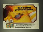 1986 Shout Stain Remover Ad - Best Against Your Worst Stains