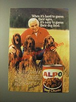 1986 Alpo Dog Food Ad - Lorne Greene