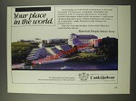 1986 Marriott Castle Harbour Bermuda Resort Ad - Your Place in The World