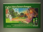 1986 Deep Woods Off! Ad - Fights Bites Hours Longer