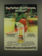 1986 Puritan Oil Ad - The Puritan Oil Difference