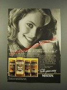 1986 Nescafe Decaf Coffee Ad - Finally, a Naturally Decaffeinated Coffee