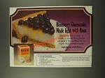 1986 Knox Gelatin Ad - It's a Snap Cheesecake recipe