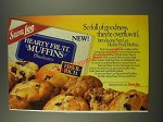 1986 Sara Lee Hearty Fruit muffins Ad - So Full of Goodness