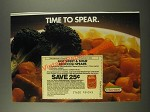1986 Hormel Great Beginnings Sweet & Sour Pork Ad - Time to Spear