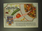 1986 Progresso Soup Ad - Taste Soups Only Progesso Can Make