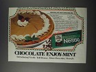 1986 Nestle Mint-Chocolate Morsels Ad - Chocolate Mint Mousse Pie recipe