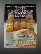 1986 Hunt's Tomato Sauces Ad - Spaghetti-Ready