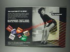 1986 No Nonsense Panty Hose Ad - The Custom Fit Is Here