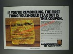 1986 Marvin Windows Ad - If You're Remodeling, The First Thing