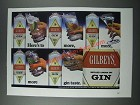 1986 Gilbey's Gin Ad - Here's To More, More, More Gin Taste