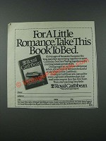 1986 Royal Caribbean Cruise Ad - For Romance, Take This Book to Bed
