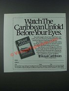 1986 Royal Caribbean Cruise Ad - Caribbean Unfold Before Your Eyes