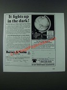1986 Barnes & Noble Mercury Illuminated Globe Ad - Lights Up in the Dark