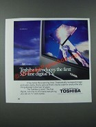 1986 Toshiba CZ-2697 Television Ad - First 525-Line Digital TV