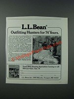 1986 L.L. Bean Hunting gear Ad - Outfitting Hunters for 74 Years