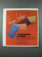 1986 Princess Gardner Secretaries Ad - Secretaries of State