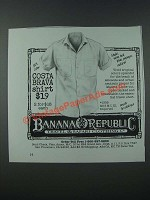 1986 Banana Republic Costa Brava Shirt Ad