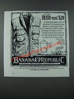 1986 Banana Republic Bush Vest Ad
