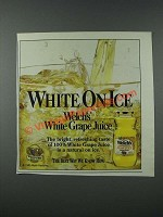 1986 Welch's White Grape Juice Ad - White on Ice