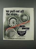 1986 Roto-Rooter Sewer-drain Service Ad - We Pull Out All The Stops