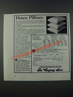 1986 The Company Store Down Pillows Ad - Down Pillows