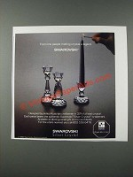 1986 Swarovski Silver Crystal Candlesticks Ad - Making Crystal a Legend