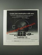 1986 Calphalon Cookware Ad - Create Your Masterpiece With Ours