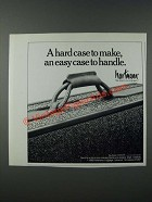 1986 Hartmann Luggage Ad - A Hard Case to Make, An Easy Case to Handle
