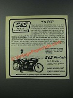 1986 S&S Products Motorcycle Parts Ad