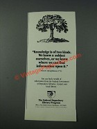 1986 The Federal Depository Library Program Ad - Knowledge Is Of Two Kinds