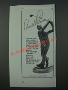 1986 Arnold Palmer Royal McCullough Sculpture Ad