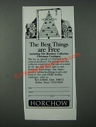 1986 Horchow Collection Christmas Catalogue Ad - Best Things Are Free