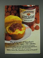 1986 Smucker's Low Sugar Red Raspberry Spread Ad - The Great Taste