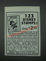 1986 Kenmore Walt Disney Stamps Ad 123 Disney Stamps