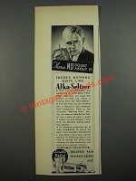 1938 Alka-Seltzer Medicine Ad - There's No Doubt About It