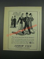 1938 Arrow Ties Ad - They Both Gave Him Arrow Ties for Christmas