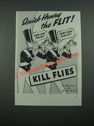 1938 Flit Bug Spray Ad - Kill Flies