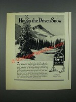 1938 Quaker State Motor Oil Ad - Pure as the Driven Snow