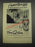 1938 Don Q Rum Ad - Puerto Rico's Gift to the Connoisseur of Fine Drinks