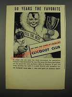 1938 Cliquot Club Ginger Ale Ad - 50 Years the Favorite