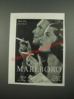 1938 Marlboro Cigarettes Ad - Ivory Tips Protect the Lips