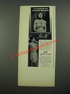 1938 H&W Just-Enuf Strapless Corset and Strapless Bra Ad